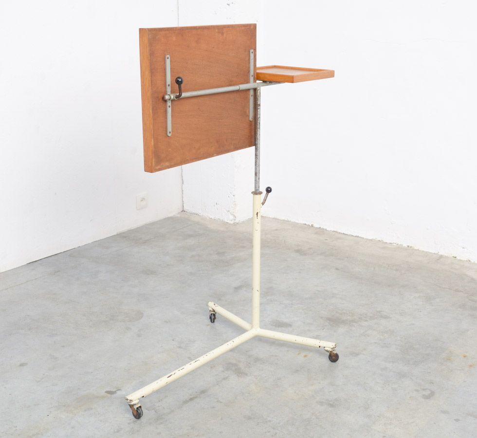 Adjustable Side Table Singapore: Vintage Industrial Adjustable Side Table For Sale At Pamono