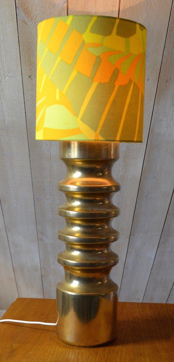 Lampada da tavolo vintage in ceramica dorata anni 39 60 in - Lampada da tavolo vintage ...