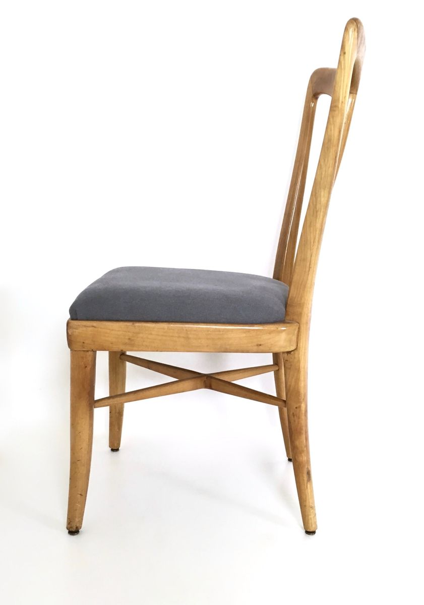 Mid Century Cherry Dining Chairs 1940s Set Of 6 For Sale