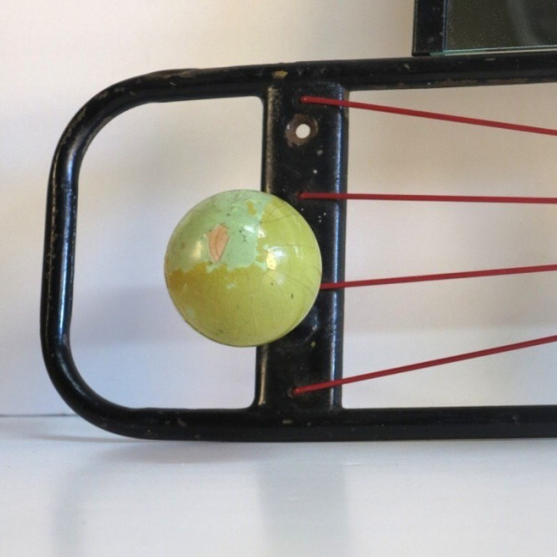 French Coat Rack With Balls And Mirror 1950s For Sale At