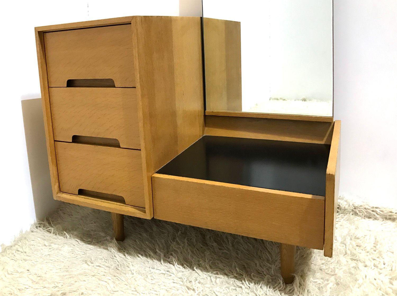 britischer mid century vintage c serie flur frisiertisch mit spiegel von john sylvia reid f r. Black Bedroom Furniture Sets. Home Design Ideas
