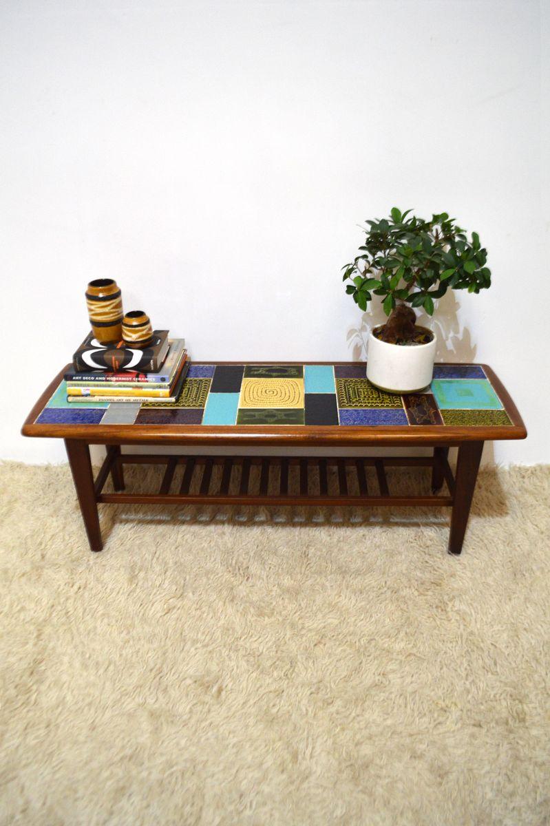 vintage retro couchtisch mit keramikfliesen von malkin johnson bei pamono kaufen. Black Bedroom Furniture Sets. Home Design Ideas