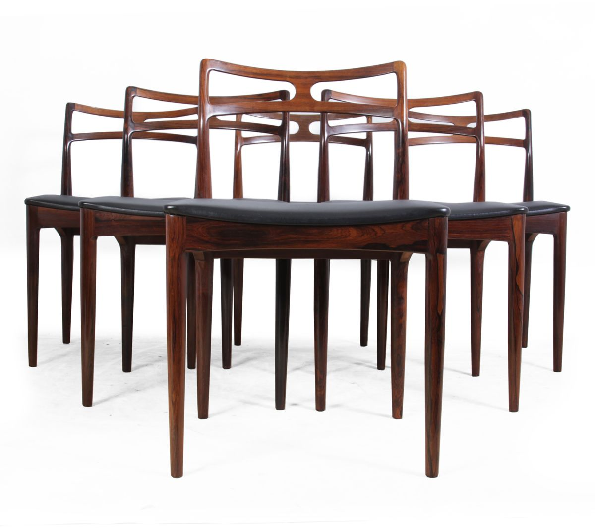Model 94 Dining Chairs By Johannes Andersen For Christian Linneberg Denmark,  1961, Set Of 6