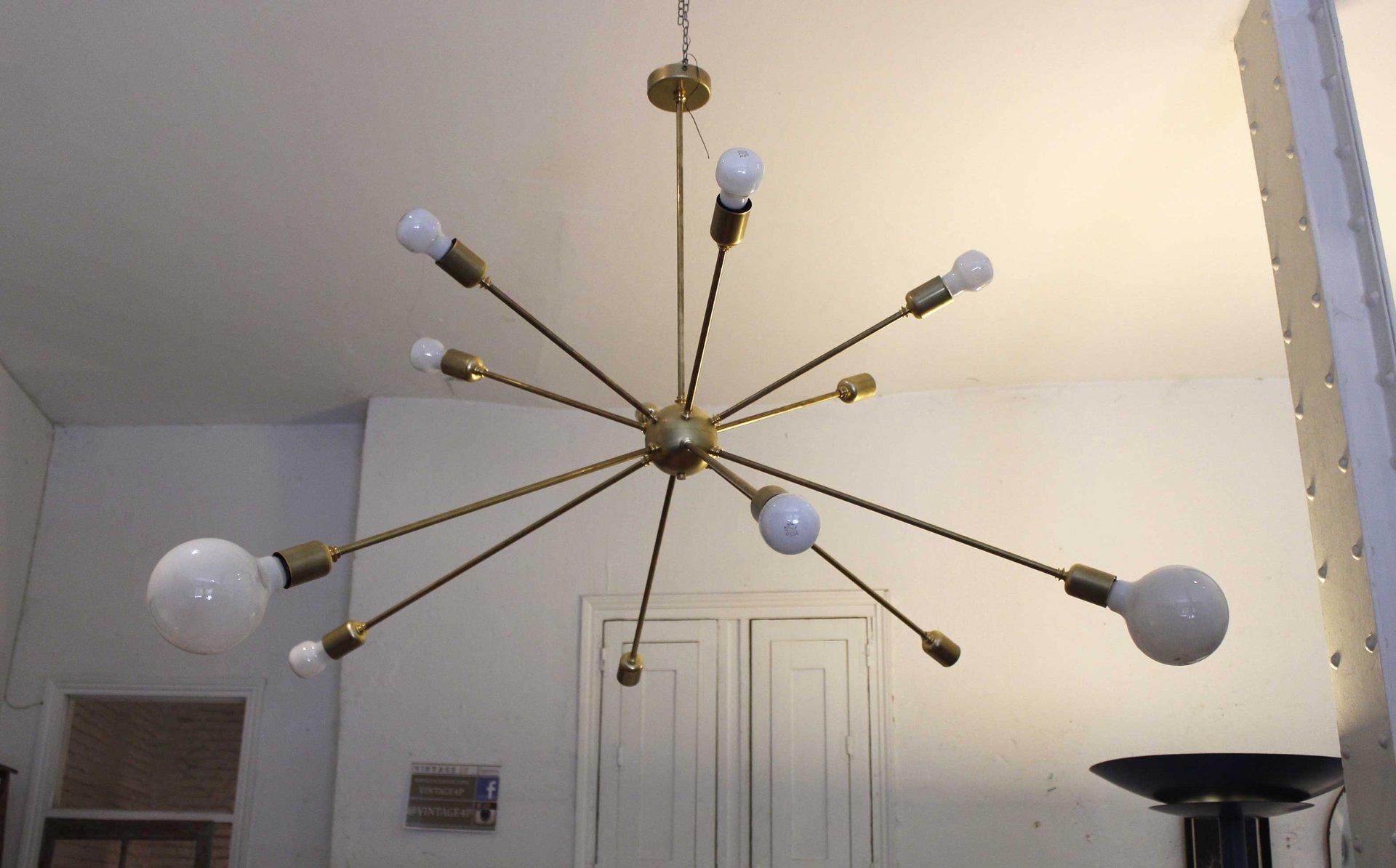 sputnik deckenlampe mit 12 leuchten von juanma lizana bei. Black Bedroom Furniture Sets. Home Design Ideas