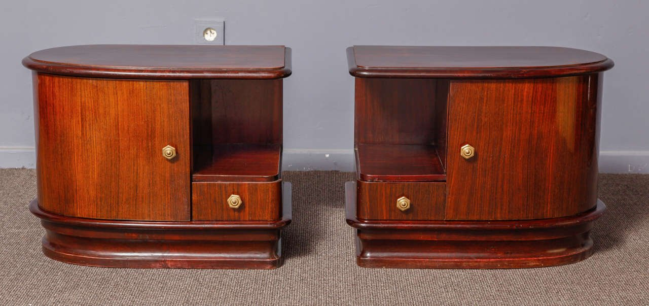 italian art deco night stands 1930 set of 2 for sale at pamono. Black Bedroom Furniture Sets. Home Design Ideas