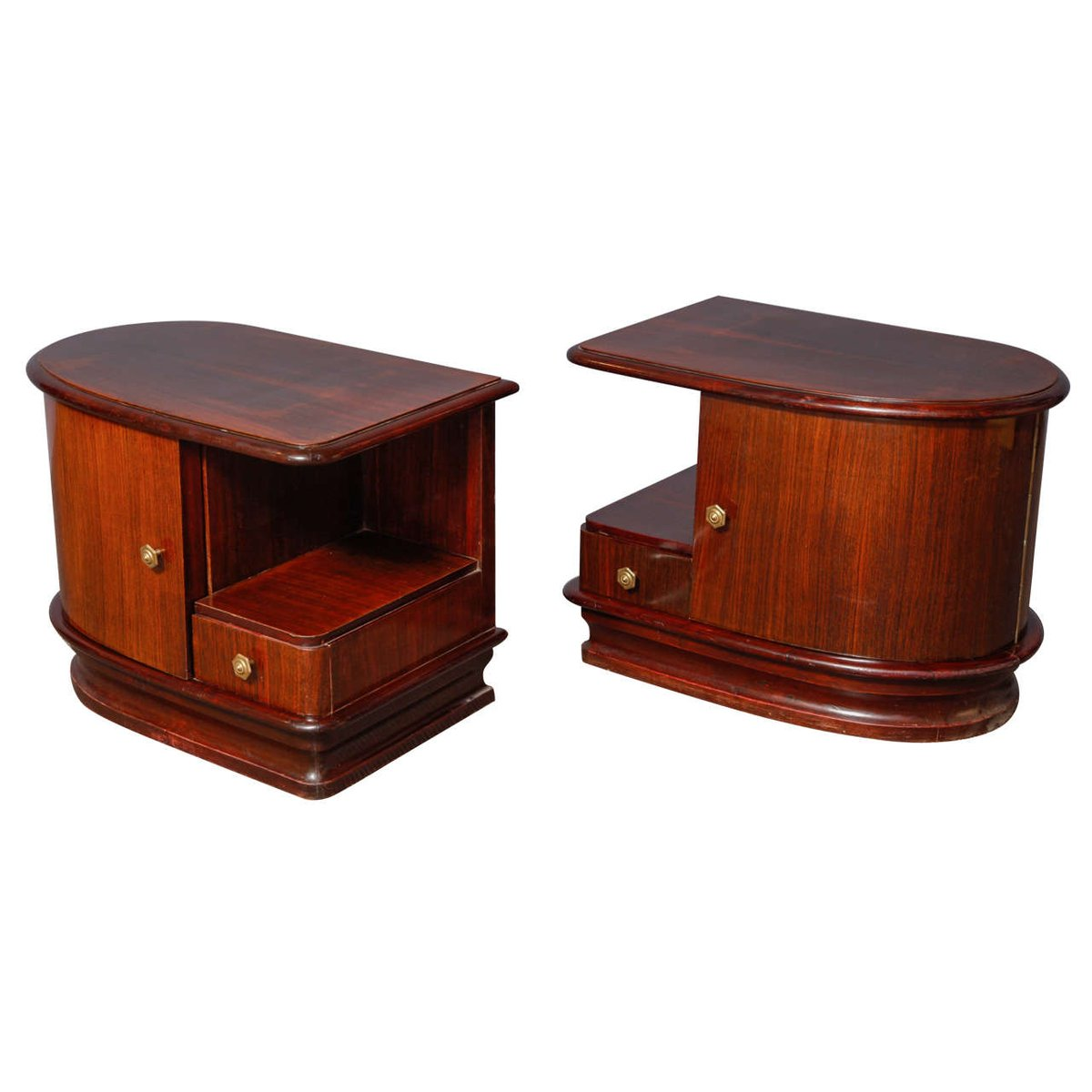 tables de chevet art deco 1930 set de 2 en vente sur pamono. Black Bedroom Furniture Sets. Home Design Ideas