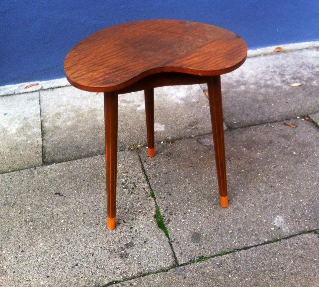 Danish Kidney Shaped Oak Side Table by Edmund Jorgensen 1950s for