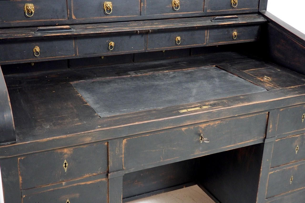 Swedish Roll Top Desk 1800s For Sale At Pamono