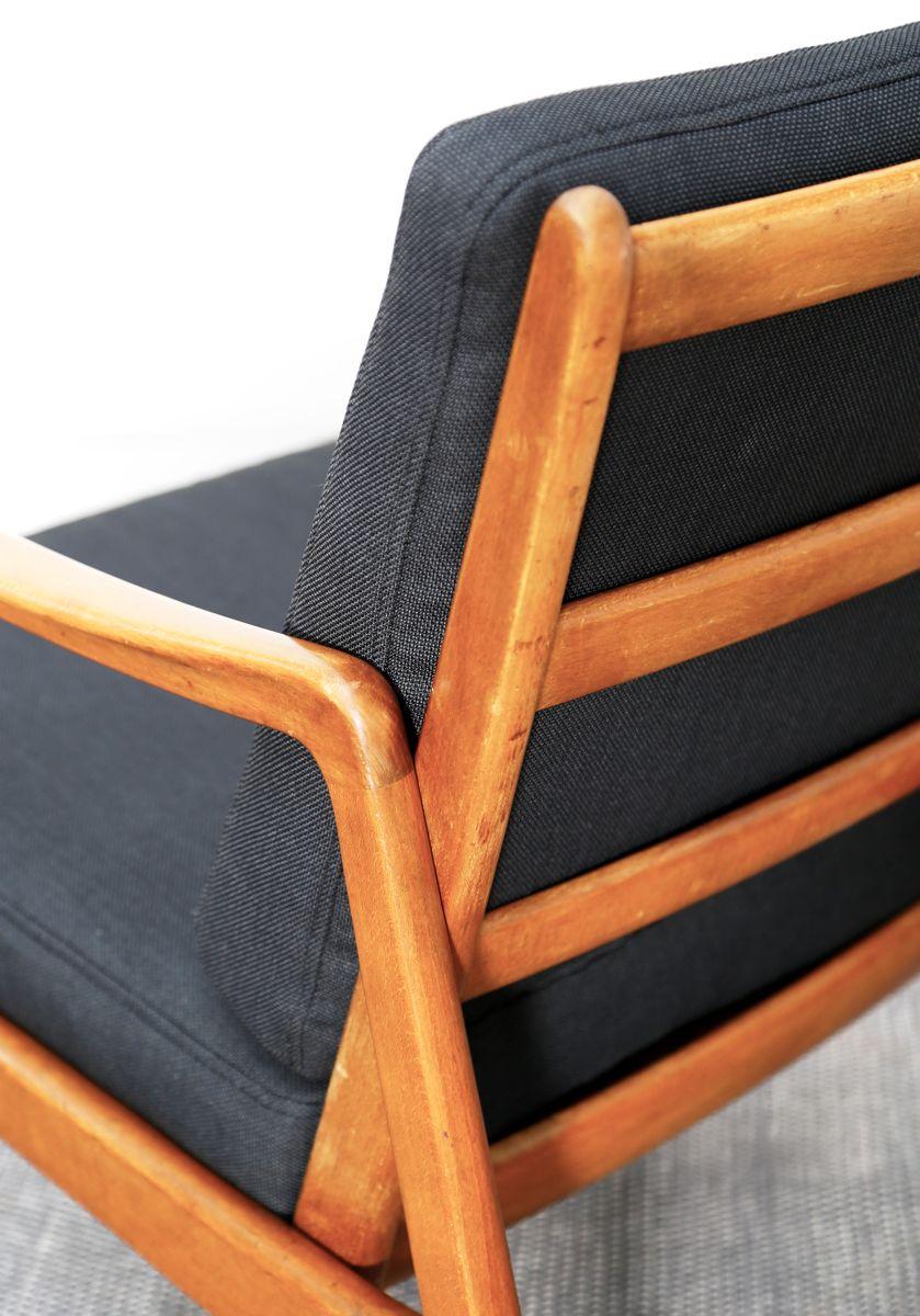 Chaise easy chair fd109 par ole wanscher pour france for Chaise simple