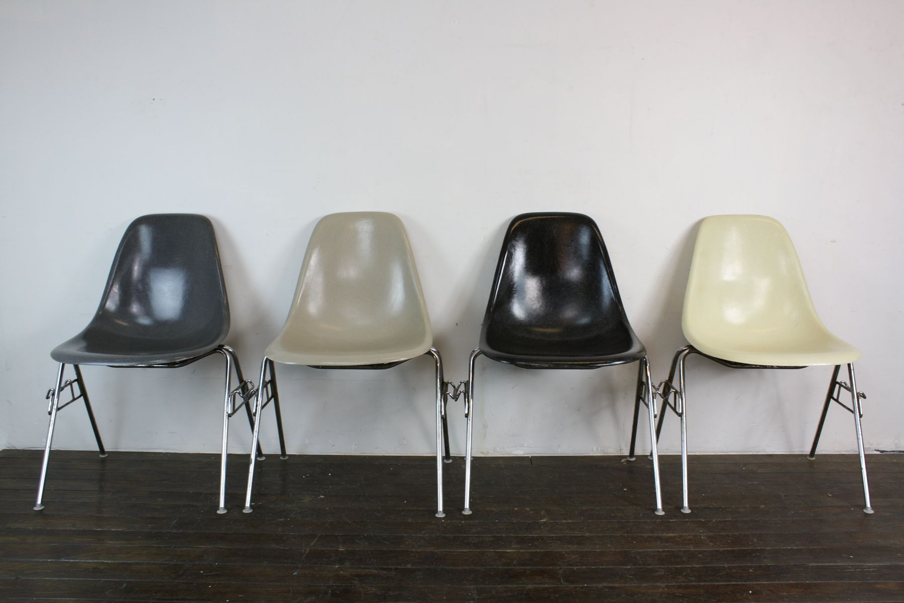 American DSS Stacking Side Chairs by Charles Eames for Herman