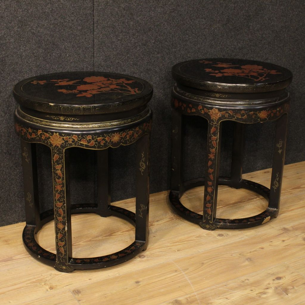 French lacquered chinoiserie coffee tables 1950s set of 2 for french lacquered chinoiserie coffee tables 1950s set of 2 for sale at pamono geotapseo Gallery
