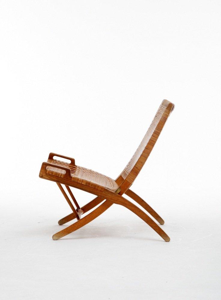 Danish Folding Chair by Hans J Wegner for Johannes Hansen 1950s