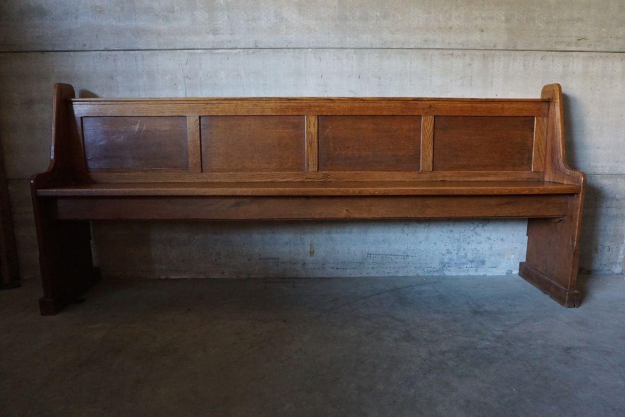 banc d 39 eglise en ch ne allemagne 1900s en vente sur pamono. Black Bedroom Furniture Sets. Home Design Ideas