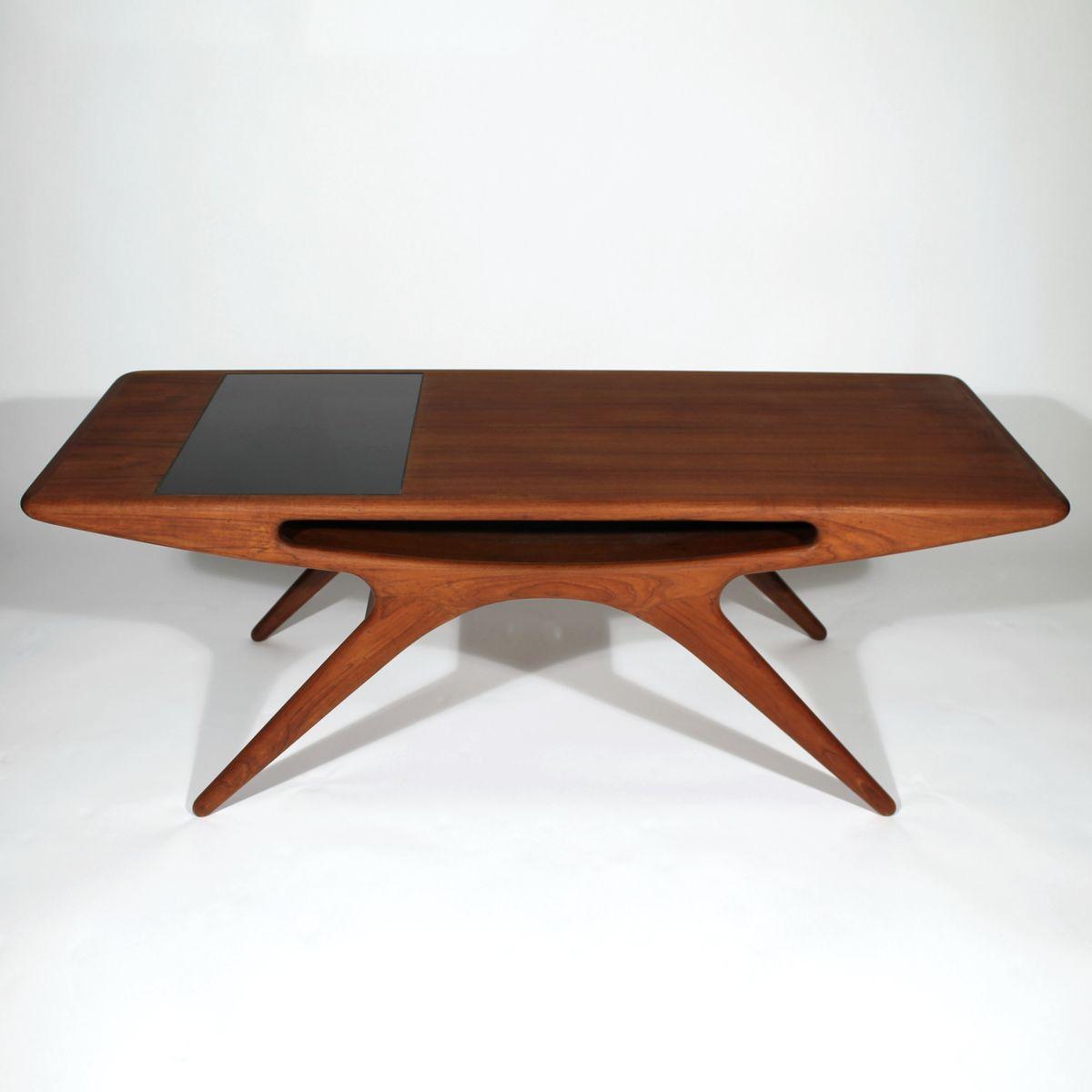 Danish Smile Teak Coffee Table By Johannes Andersen For Cfc Silkeborg 1957