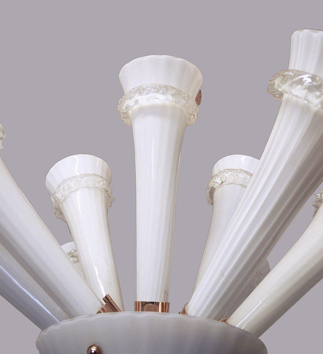 trompeten deckenlampe aus handgeblasenem glas 1960er bei pamono kaufen. Black Bedroom Furniture Sets. Home Design Ideas