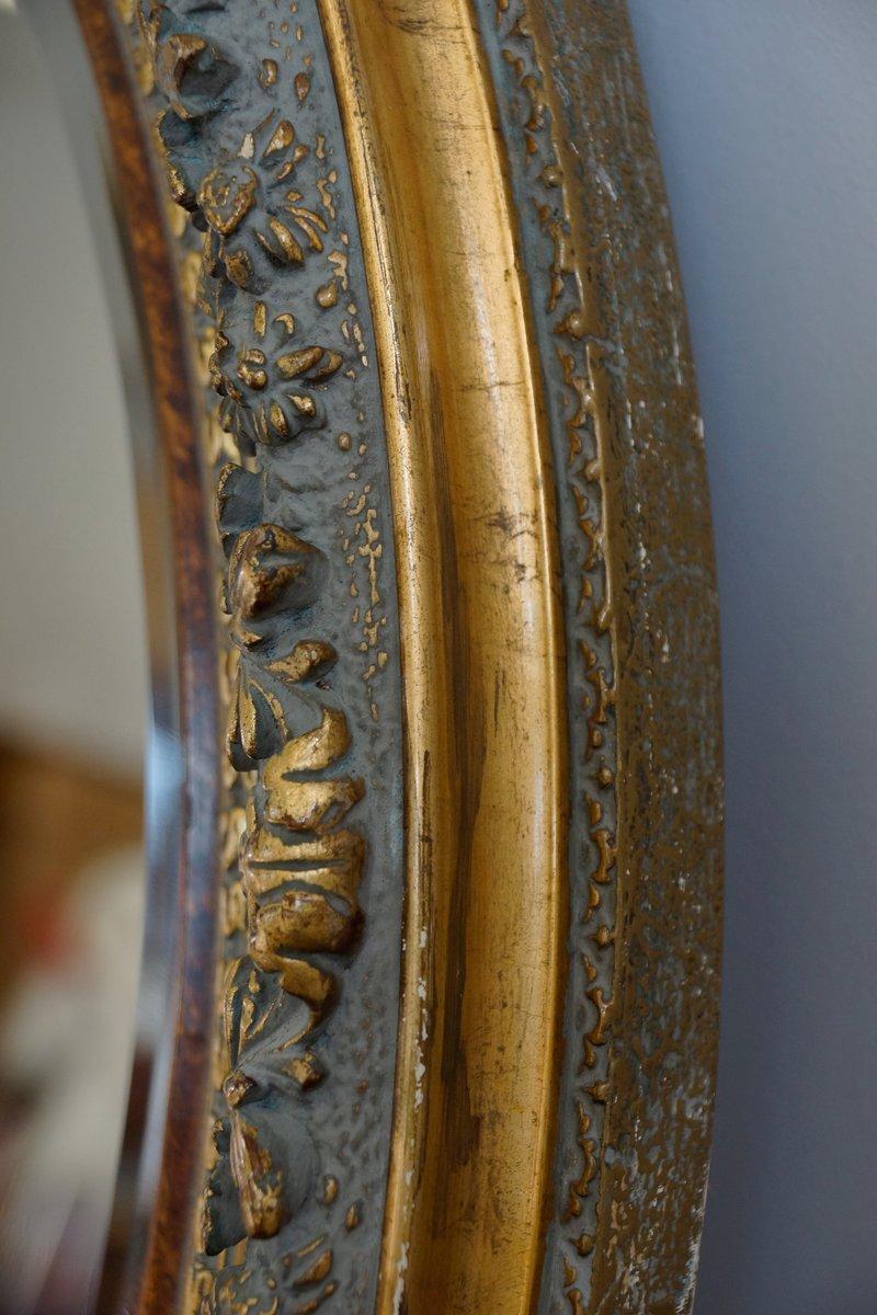 Grand miroir mural antique ovale 1820s en vente sur pamono for Grand miroir solde