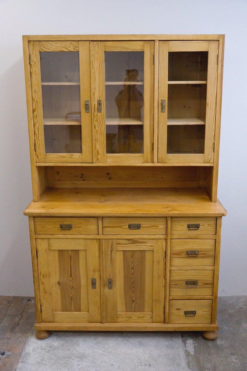 zweiteilige anrichte aus holz im bauhaus stil 1920er bei pamono kaufen. Black Bedroom Furniture Sets. Home Design Ideas