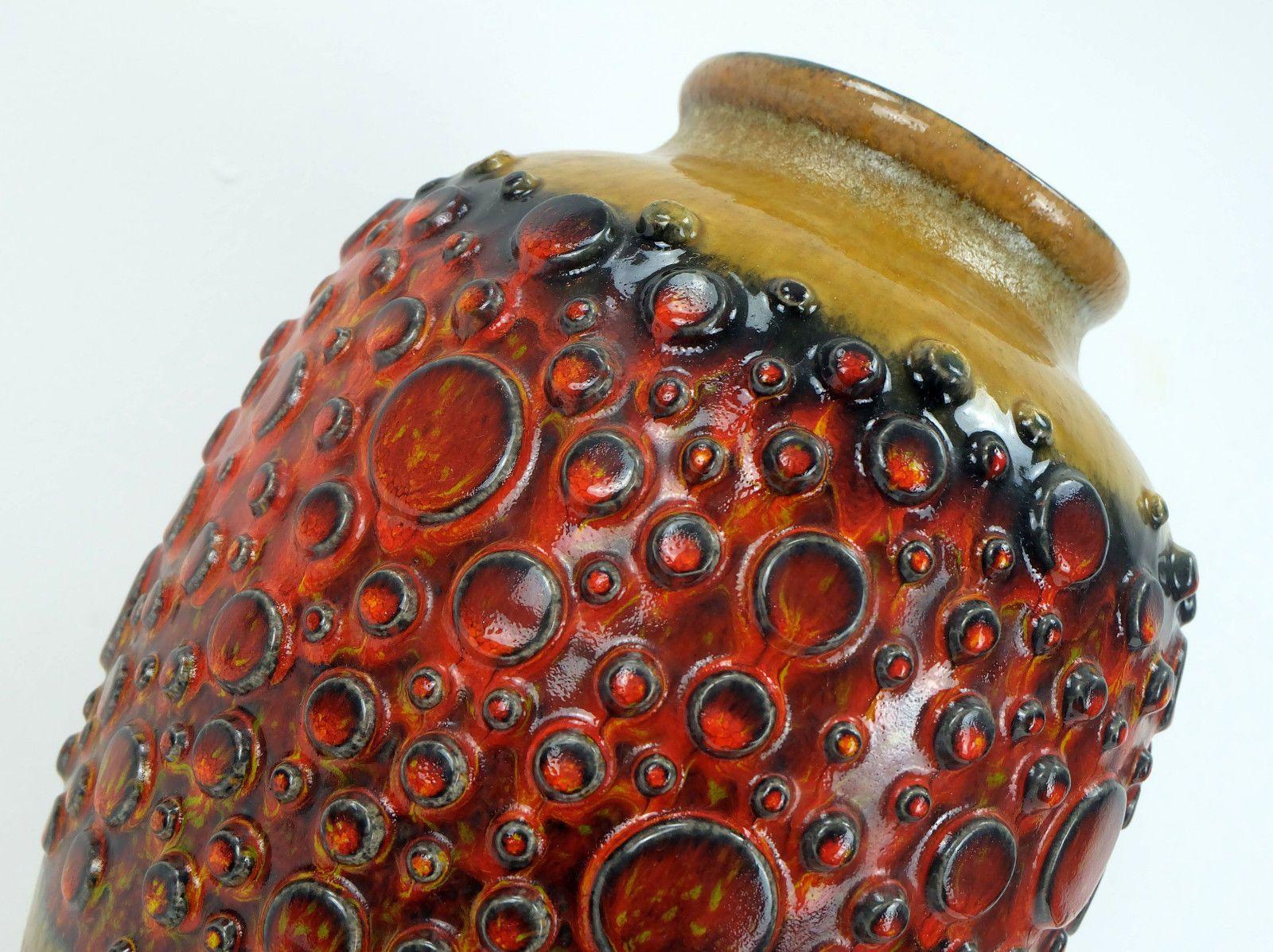 vase de sol mid century avec surface bulle de jasba en vente sur pamono. Black Bedroom Furniture Sets. Home Design Ideas