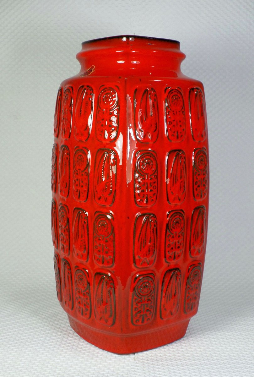 German red floor vase from bay keramik 1960s for sale at pamono floridaeventfo Gallery
