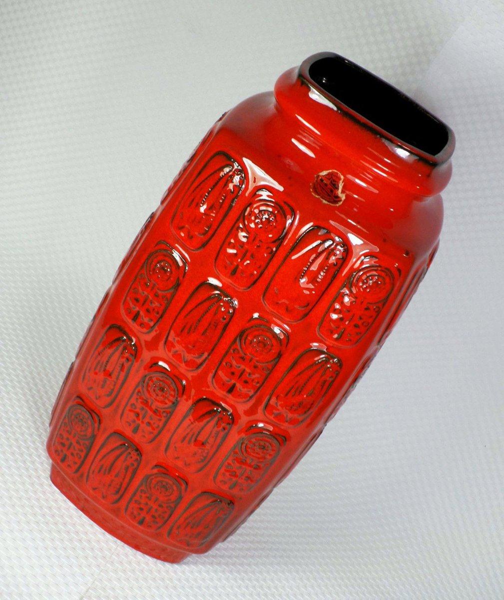 deutsche rote bodenvase von bay keramik 1960er bei pamono. Black Bedroom Furniture Sets. Home Design Ideas