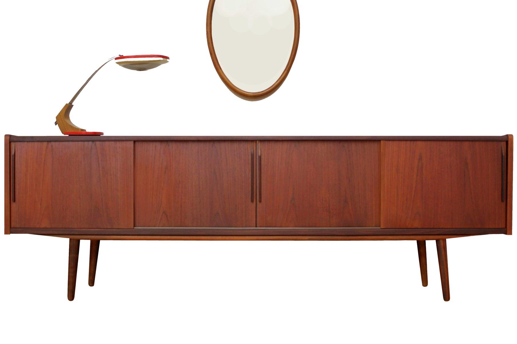 niedriges skandinavisches teak sideboard 1950er bei pamono kaufen. Black Bedroom Furniture Sets. Home Design Ideas