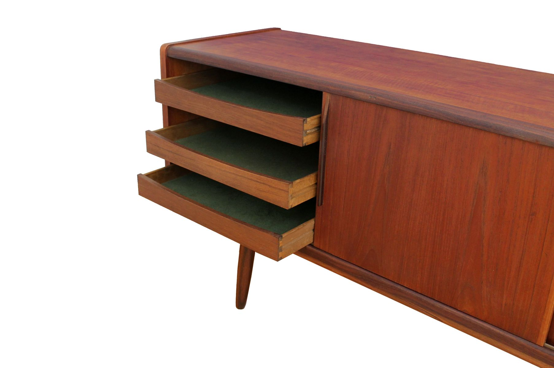 niedriges skandinavisches teak sideboard 1950er bei pamono kaufen. Black Bedroom Furniture Sets. Home Design Ideas