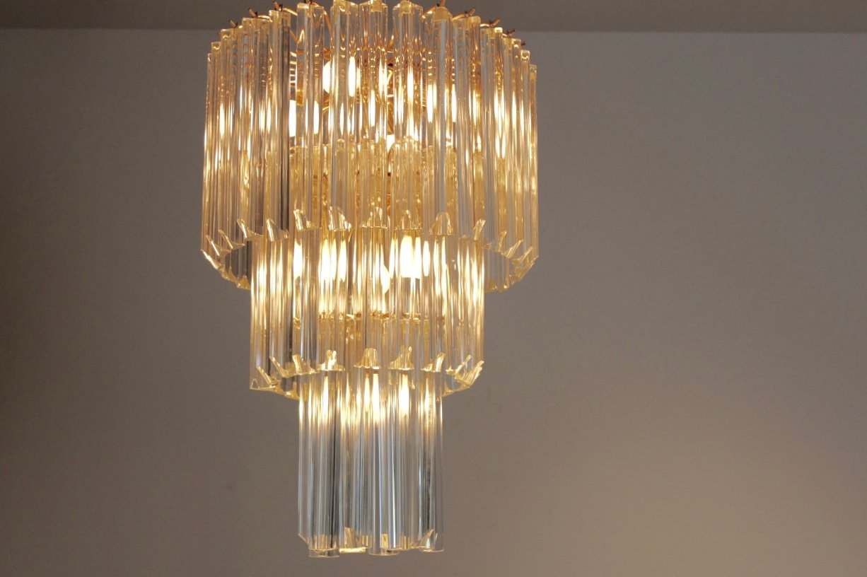 Italian Murano Glass Chandelier By Paolo Venini For Venini