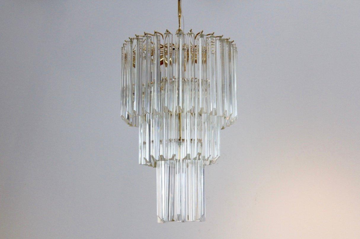 Italian Murano Glass Chandelier By Paolo Venini For Venini