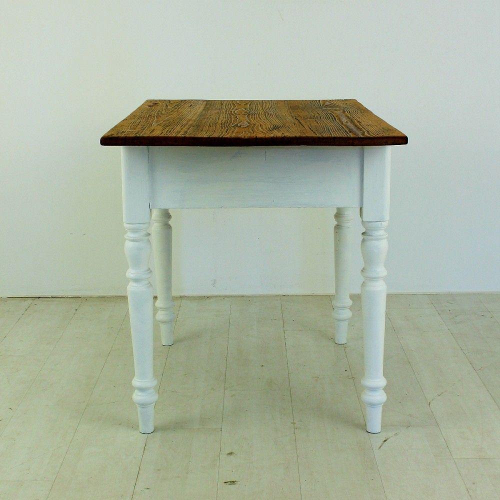 antiker fichtenholz tisch mit schublade bei pamono kaufen. Black Bedroom Furniture Sets. Home Design Ideas