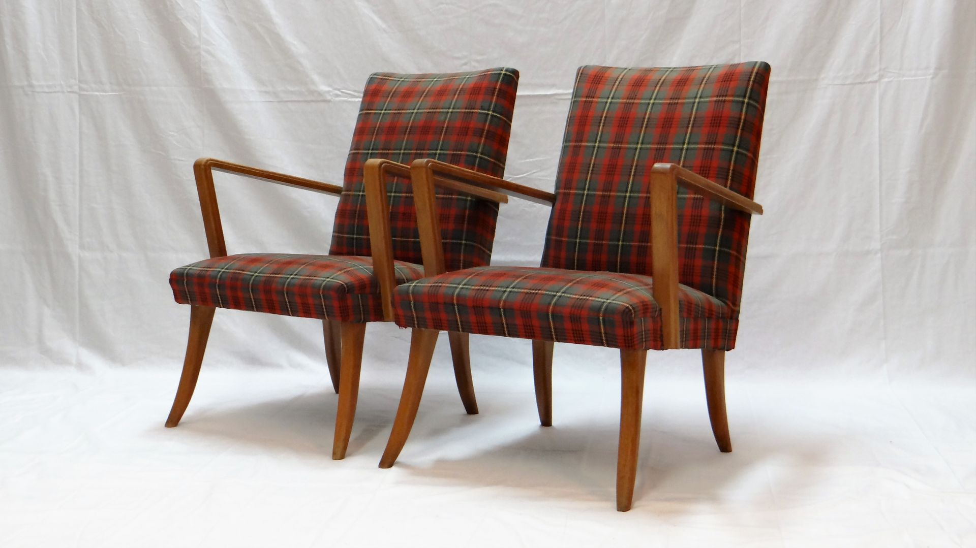 Upholstered armchairs 1950s set of 2 for sale at pamono for 2 armchairs for sale