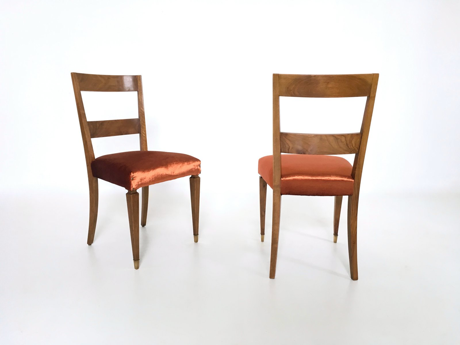 vintage walnut dining chairs set of 10 for sale at pamono