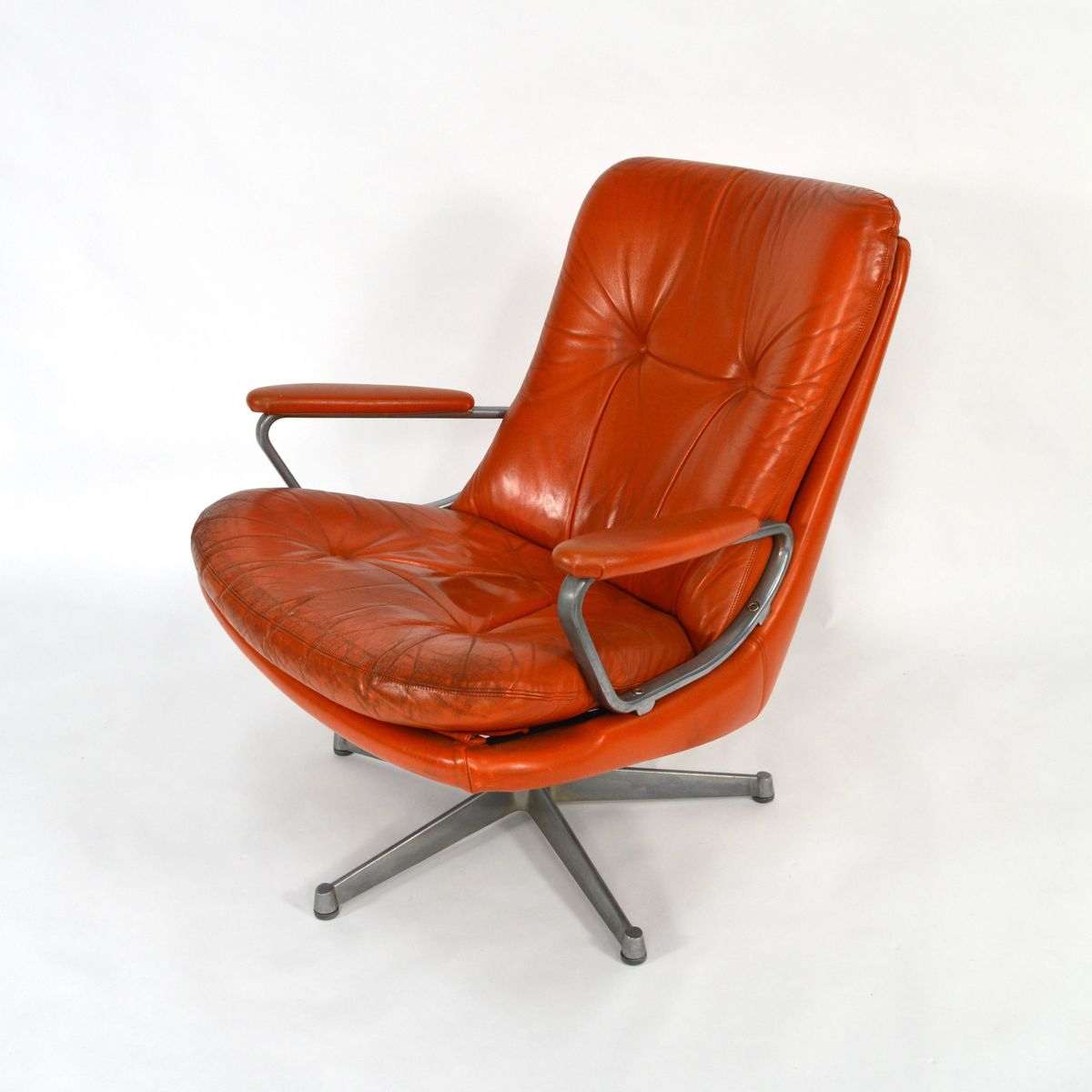 Swiss Swivel Lounge Chair by Andre Vandenbeuck for Strässle 1960s for sale a