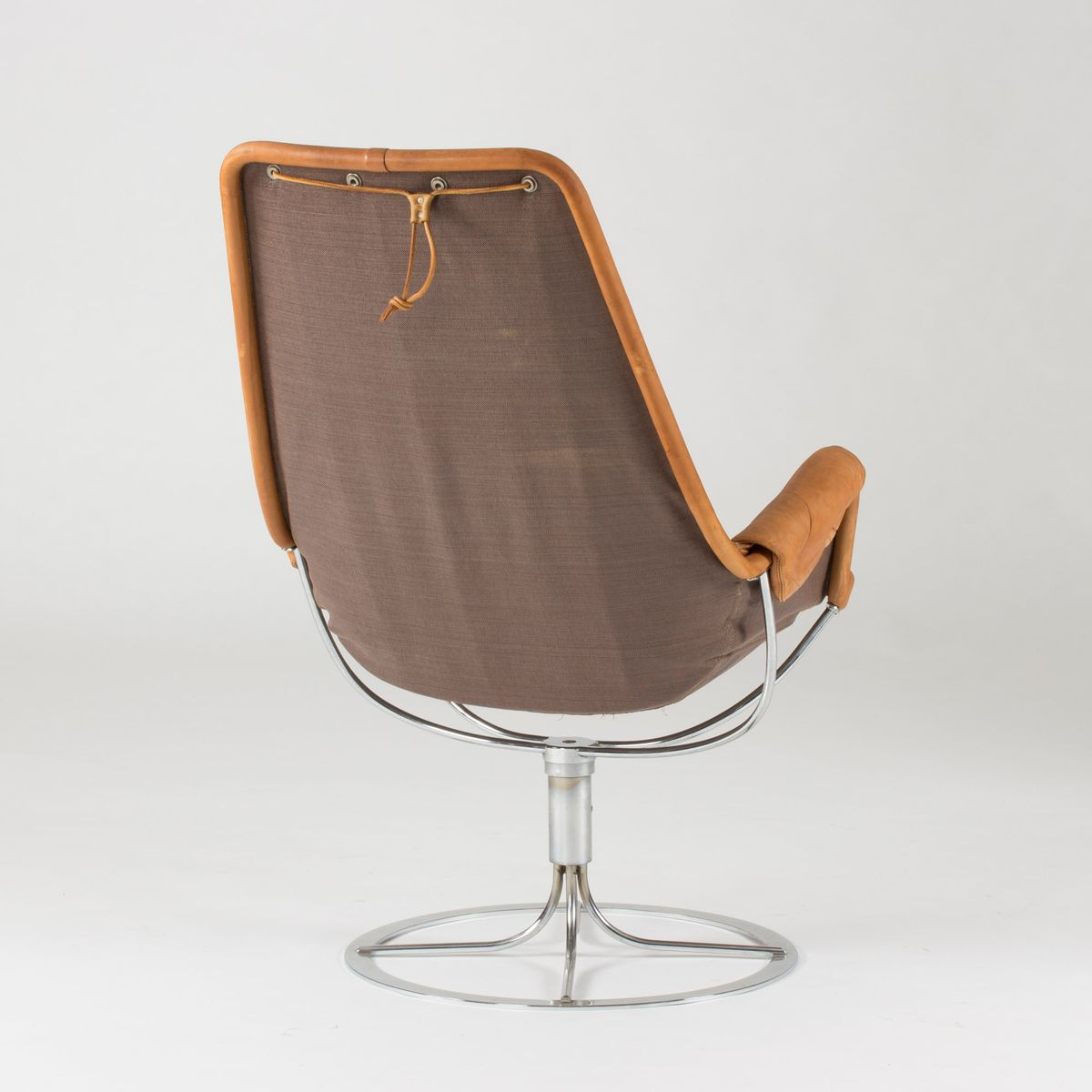 Jetson Cognac Leather Lounge Chair by Bruno Mathsson for