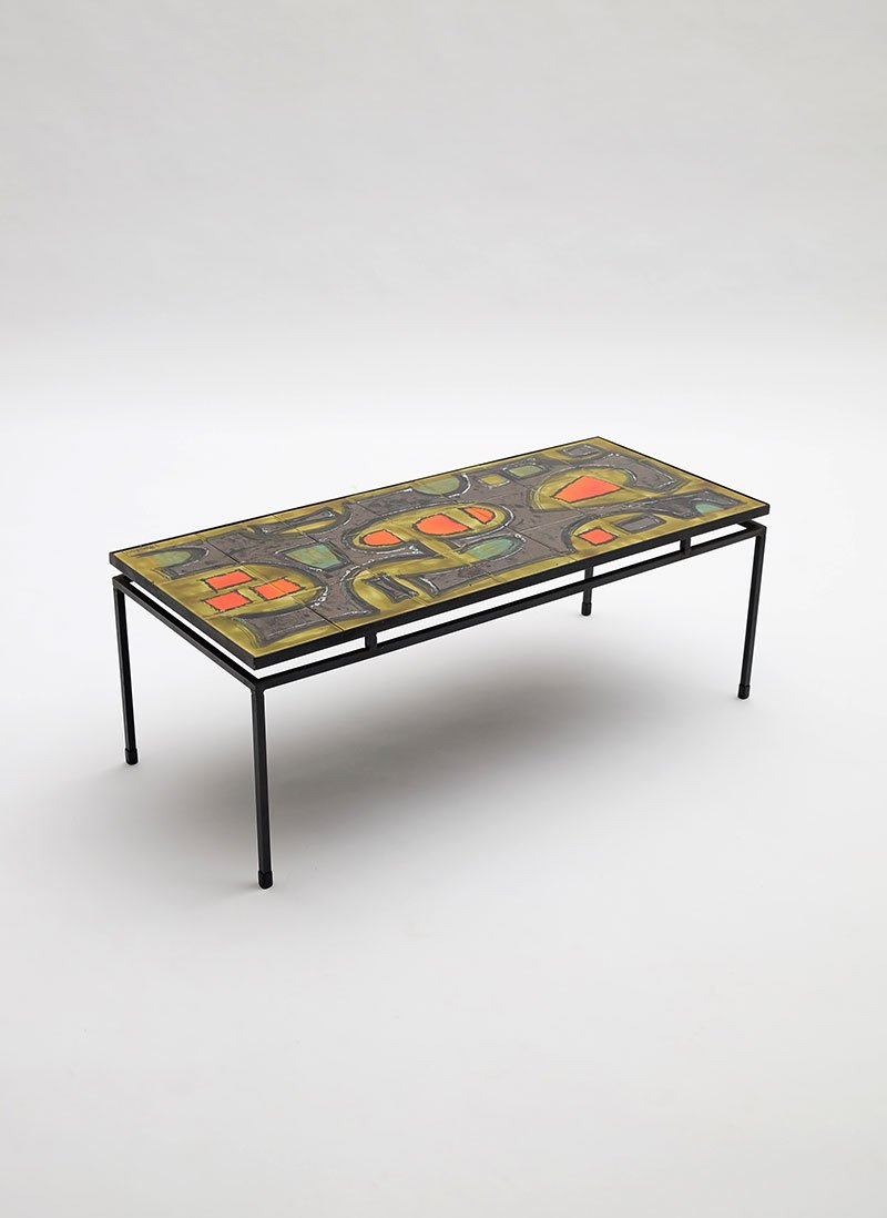 Handpainted Ceramic Coffee Table By Juliette Belarti For Sale At Pamono