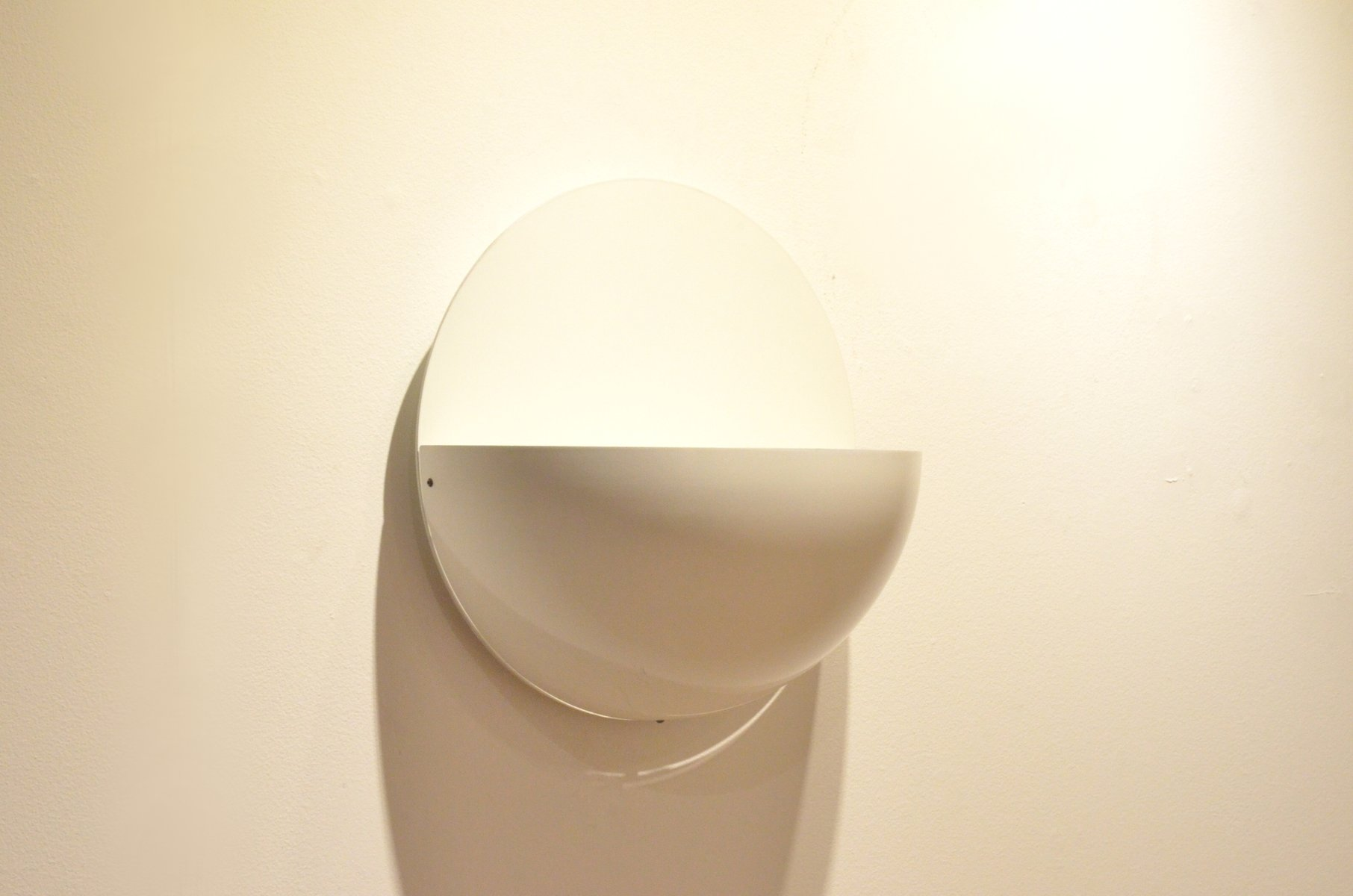 Metal Shaped Wall Lights : Sphere Shaped White Metal Wall Sconce for sale at Pamono
