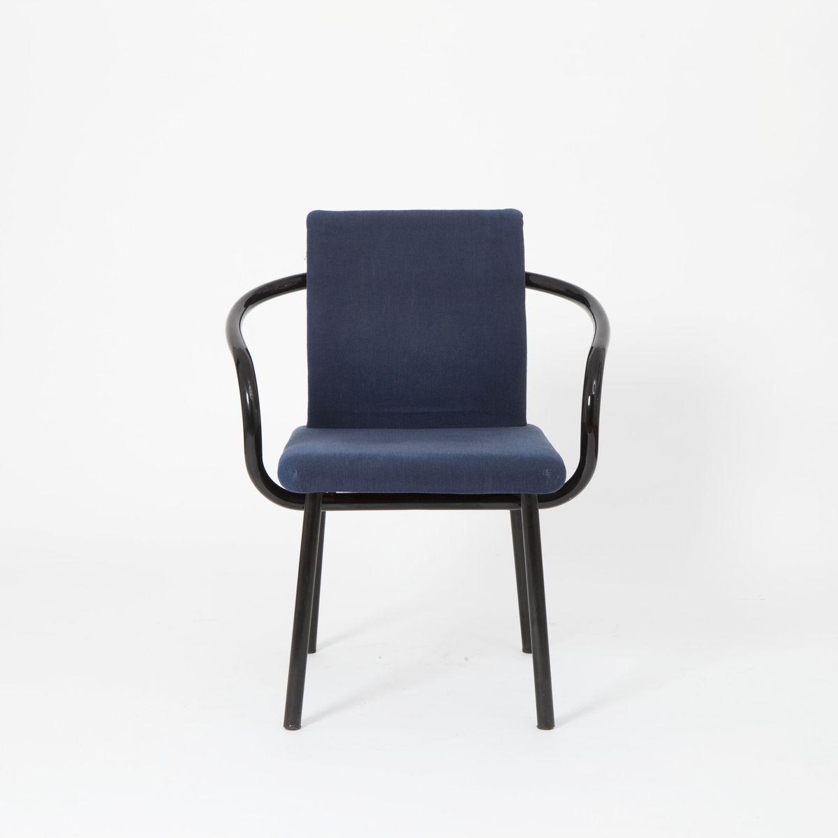 blaue mandarin st hle von ettore sottsass f r knoll. Black Bedroom Furniture Sets. Home Design Ideas