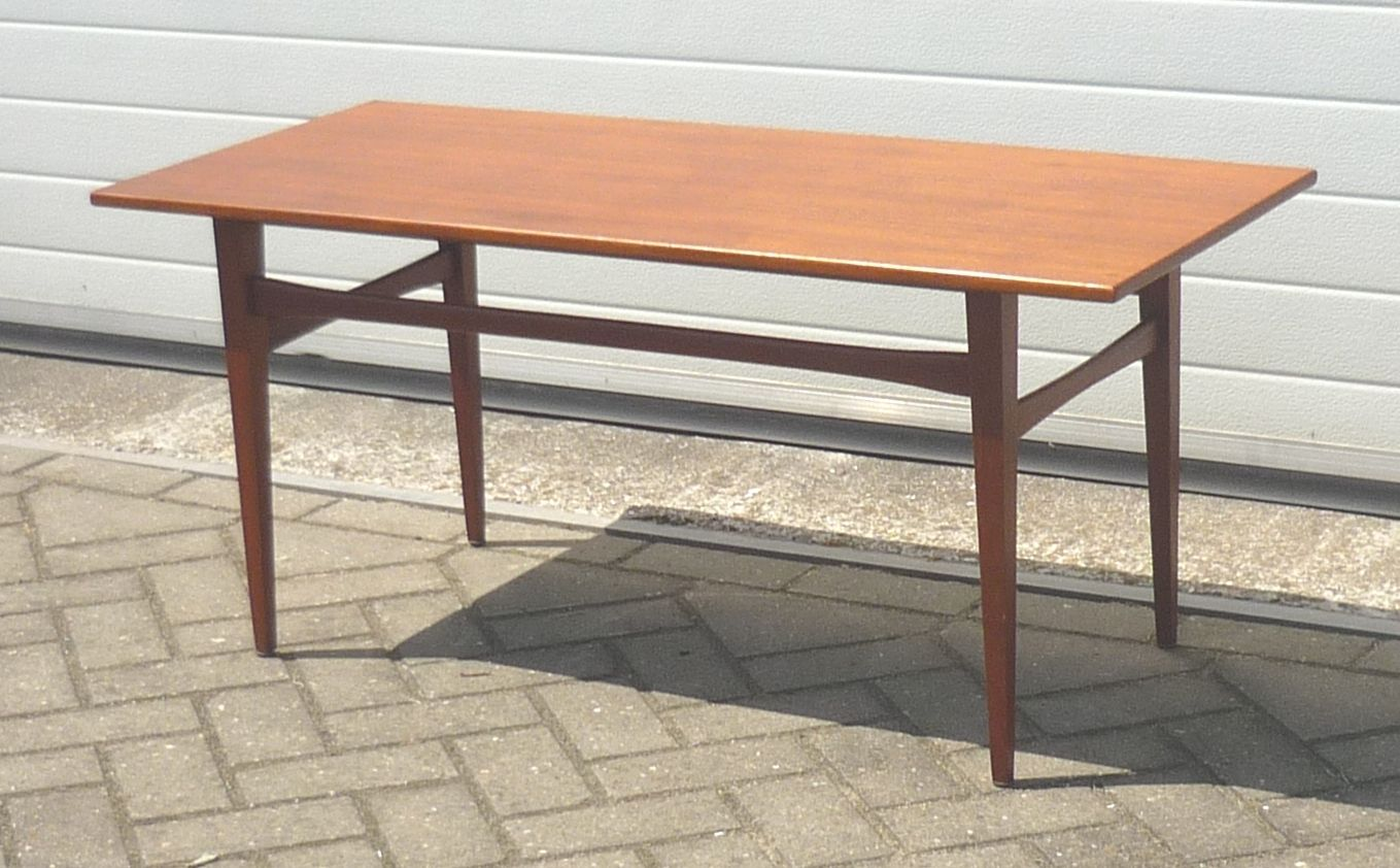 Danish Brown Teak Coffee Table 1960s For Sale At Pamono