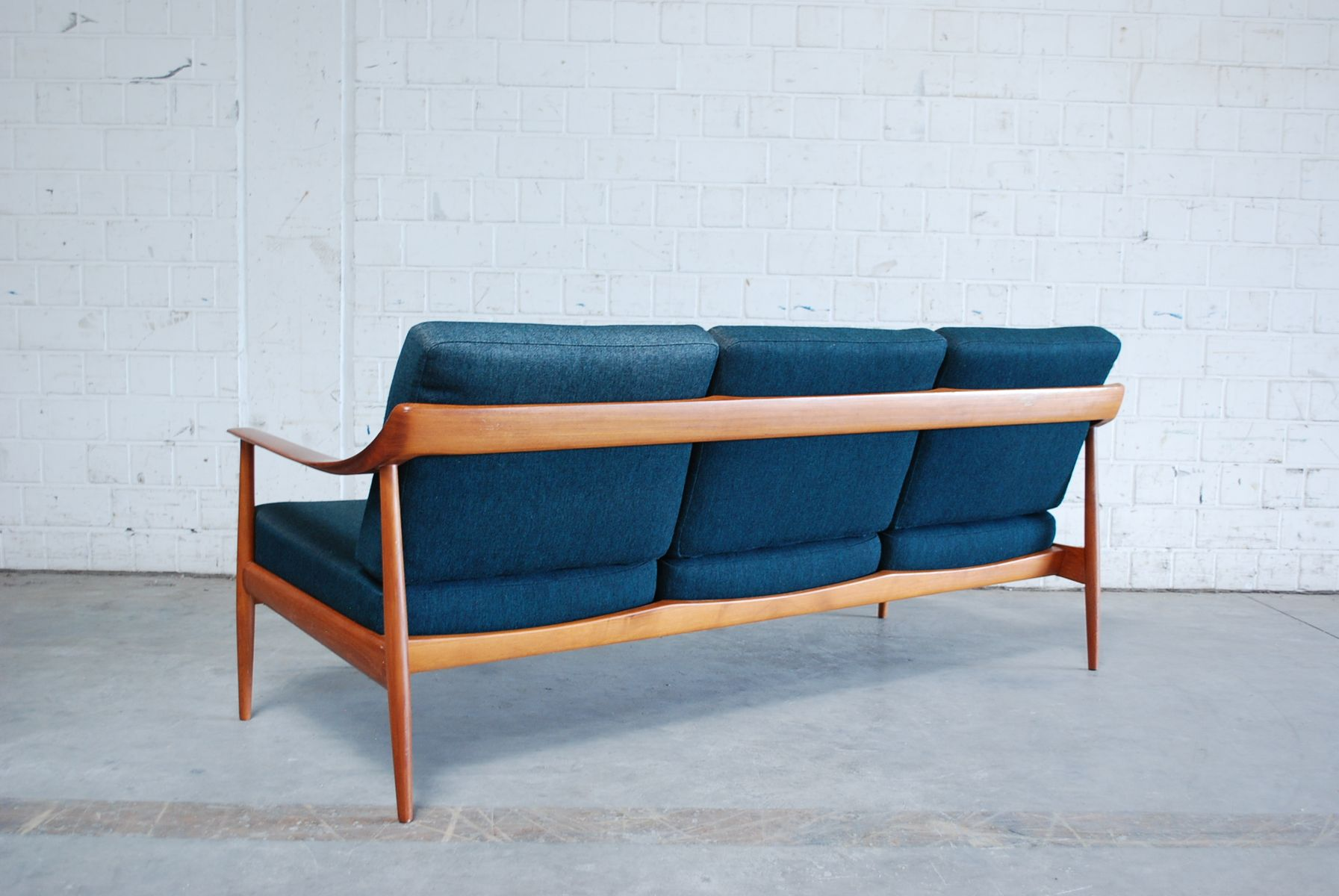 Petrol Teak Sofa From Knoll 1960s For Sale At Pamono