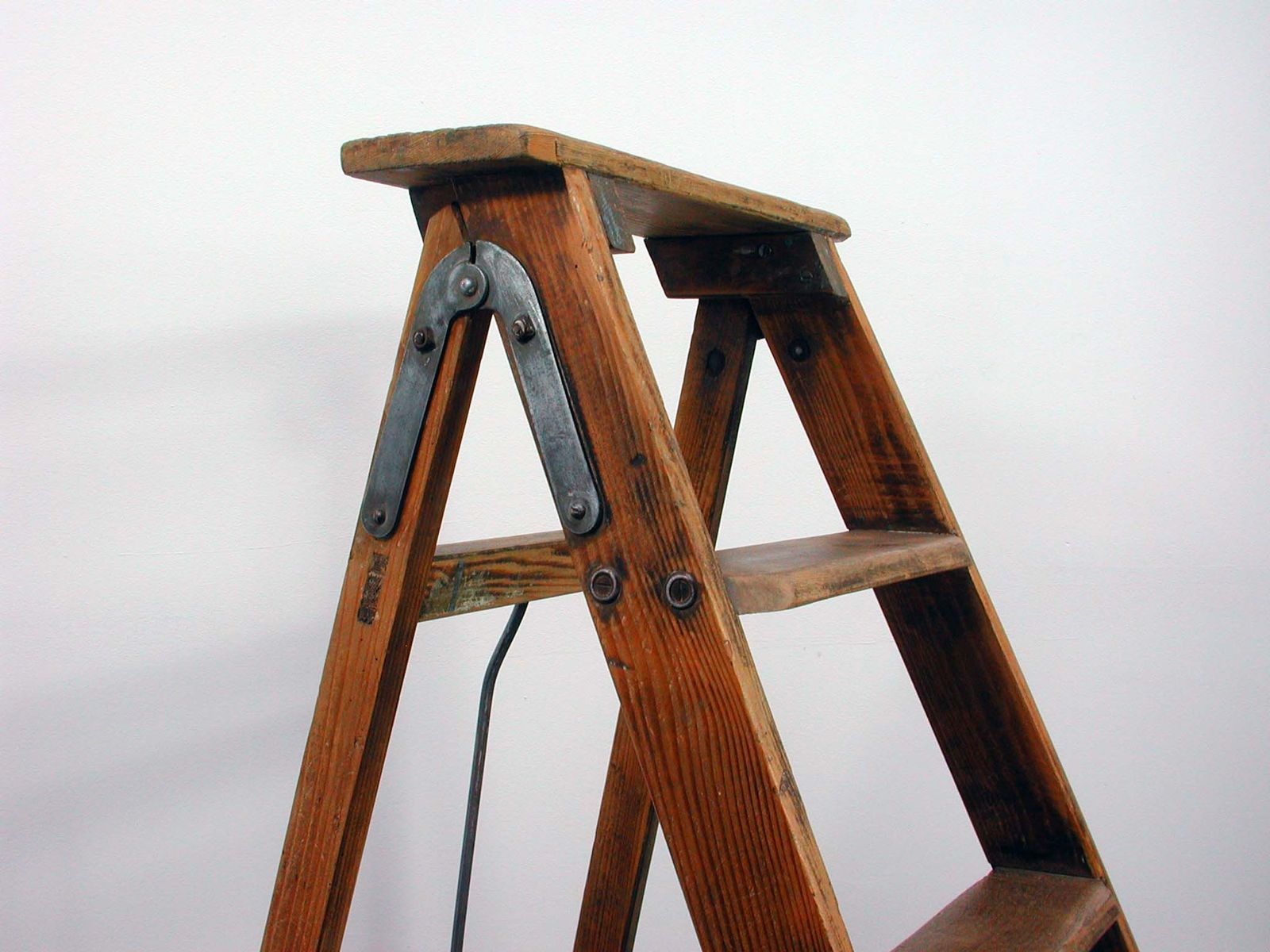 Vintage Industrial French Wooden Ladder for sale at Pamono