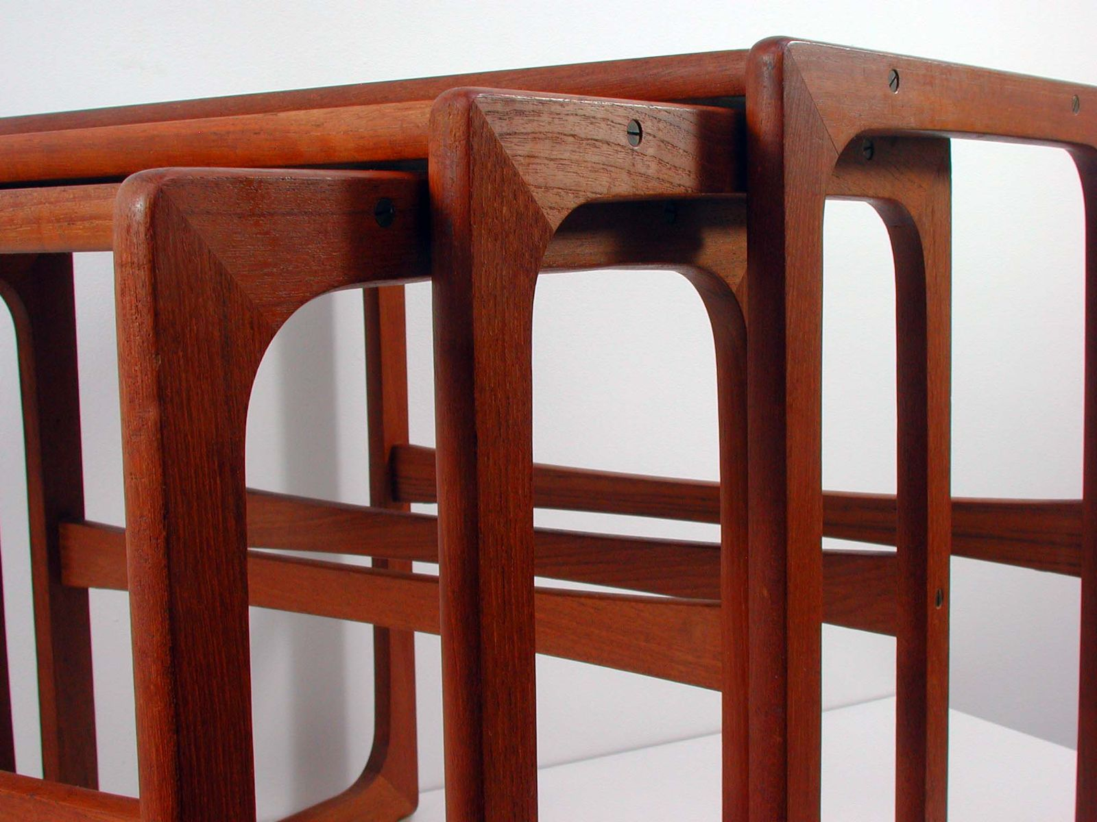 skandinavische mid century teak satztische 1960er bei. Black Bedroom Furniture Sets. Home Design Ideas