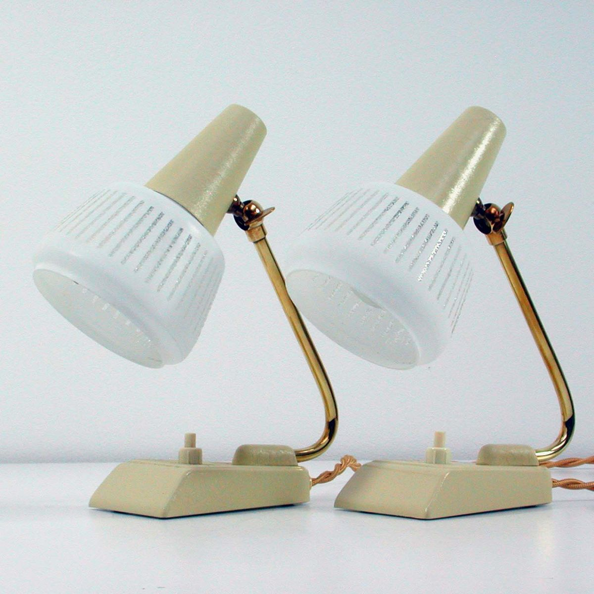 Vintage German Table Lamps 1950s Set Of 2 For Sale At Pamono