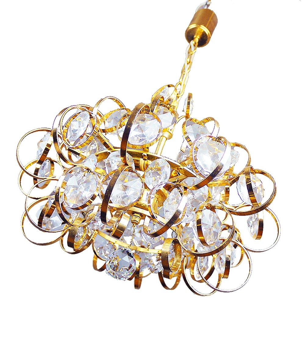 German sputnik gold plated crystal chandelier from palwa 1960s german sputnik gold plated crystal chandelier from palwa 1960s arubaitofo Images