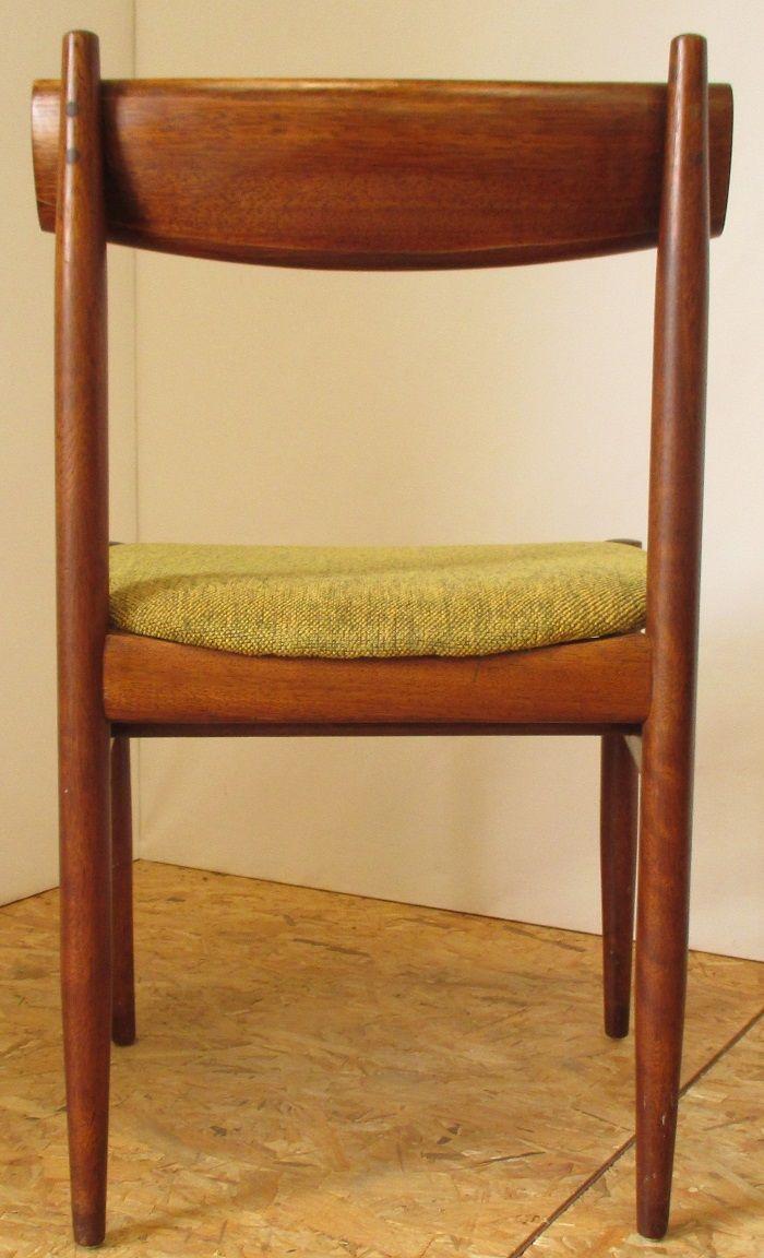 gr ne samt teak esszimmerst hle 4er set bei pamono kaufen. Black Bedroom Furniture Sets. Home Design Ideas