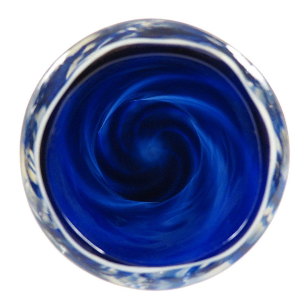 italienische blau wei e vase aus mundgeblasenem glas bei pamono kaufen. Black Bedroom Furniture Sets. Home Design Ideas