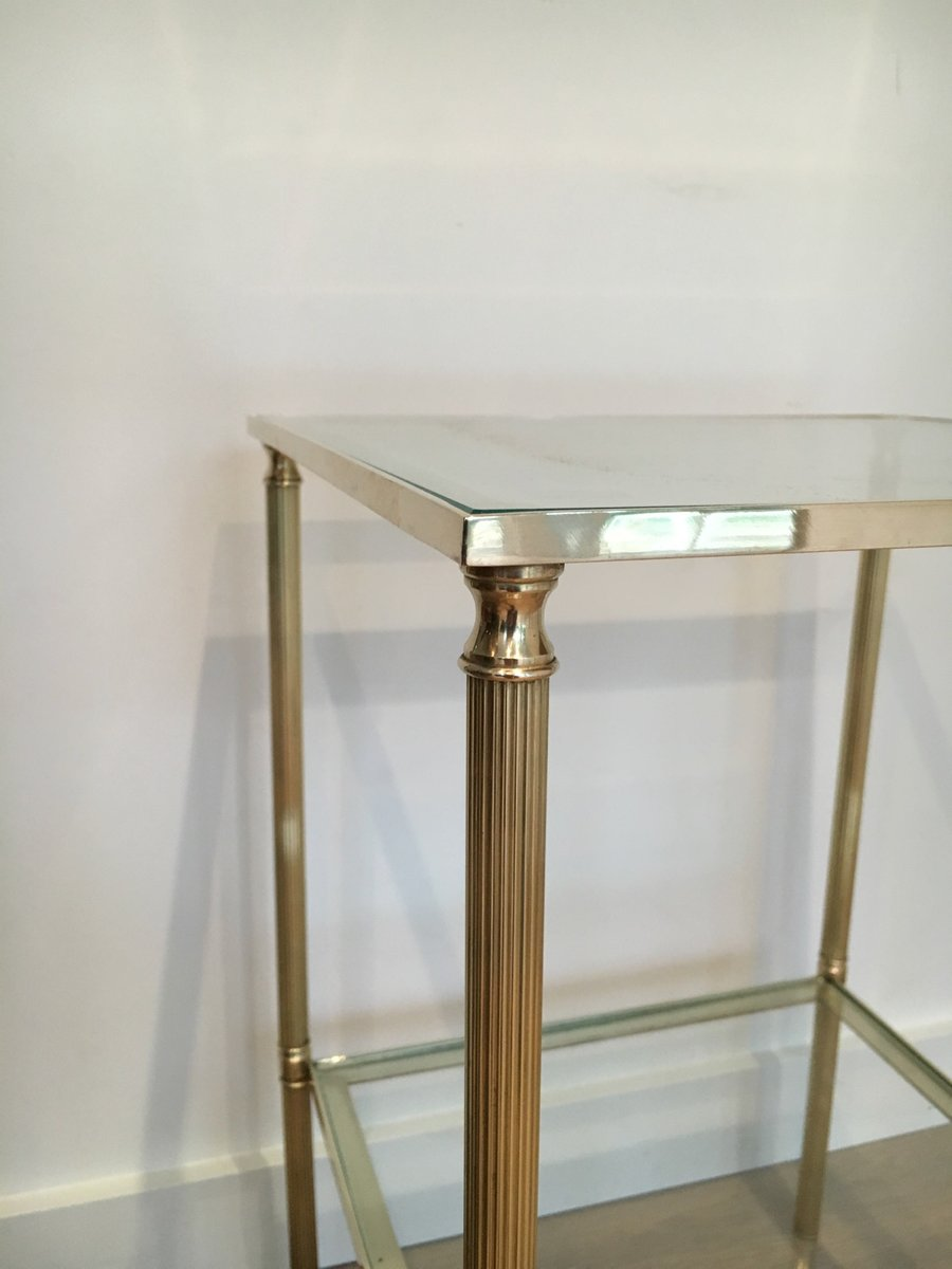 Brass And Glass Coffee Tables 1960s Set Of 2 For Sale At Pamono