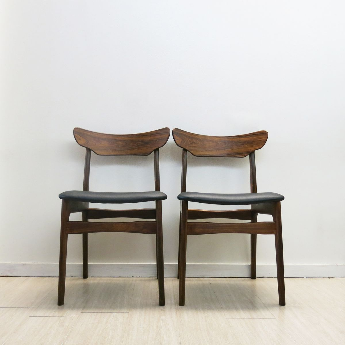 danish rosewood chairs by schionning elgaard 1960s set of 4 for