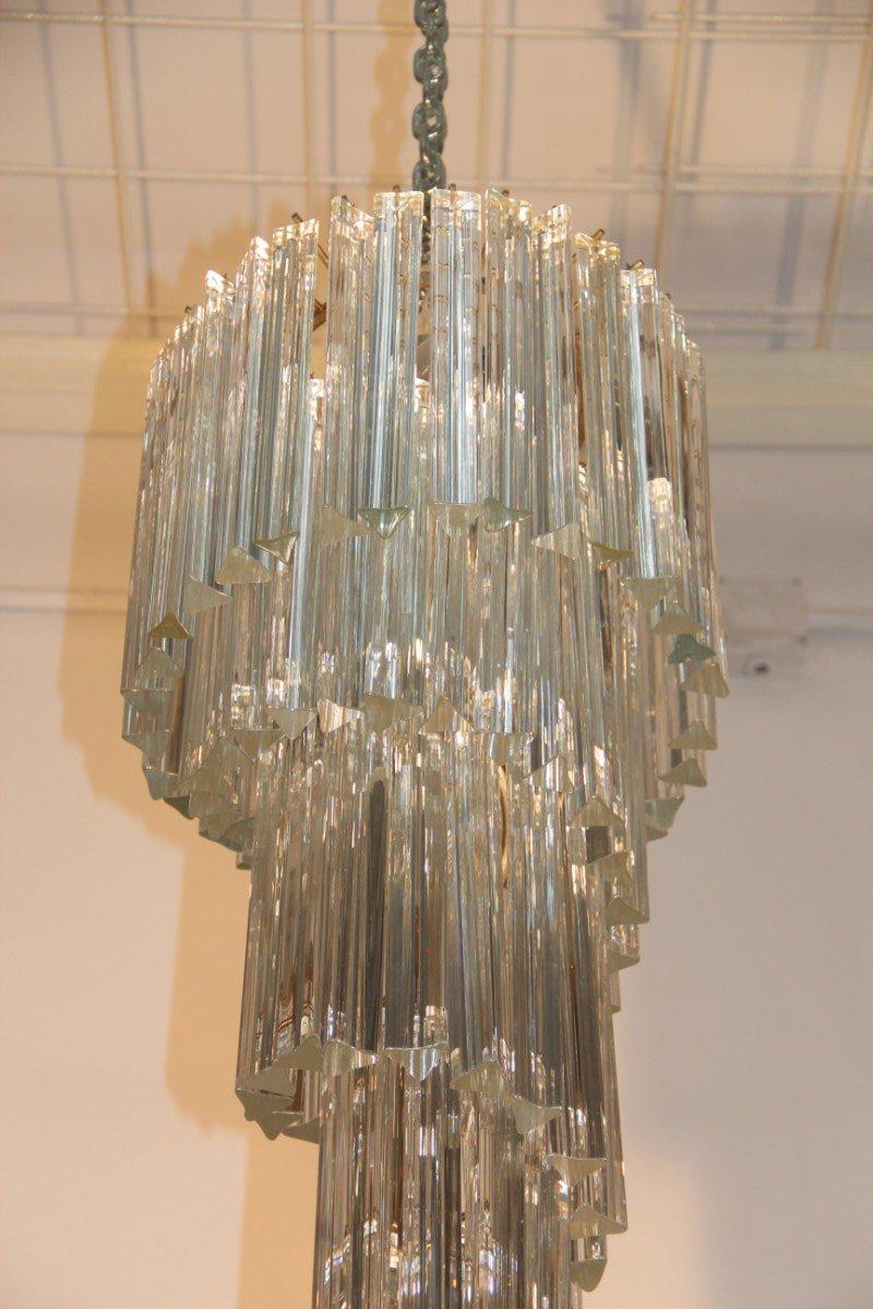 Italian cascading chandelier from venini 1960s for sale at pamono italian cascading chandelier from venini 1960s arubaitofo Images