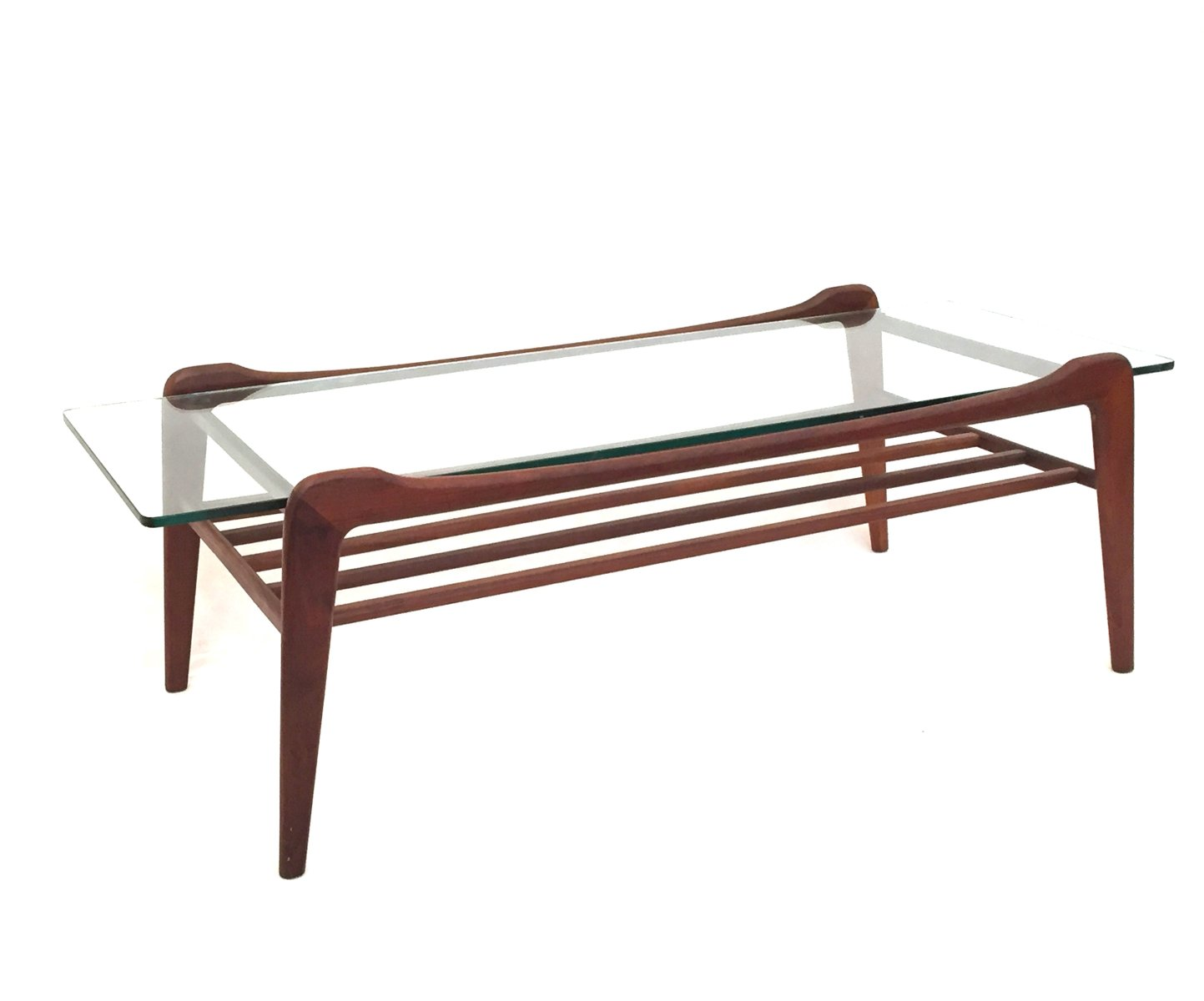 vintage teak & glass coffee table from g-plan, 1970s for sale at
