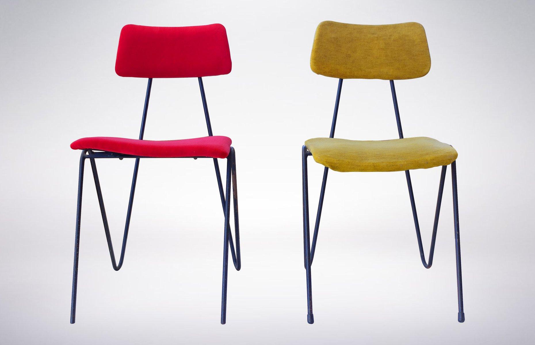 st hle von fratelli saporiti 1950er 2er set bei pamono. Black Bedroom Furniture Sets. Home Design Ideas
