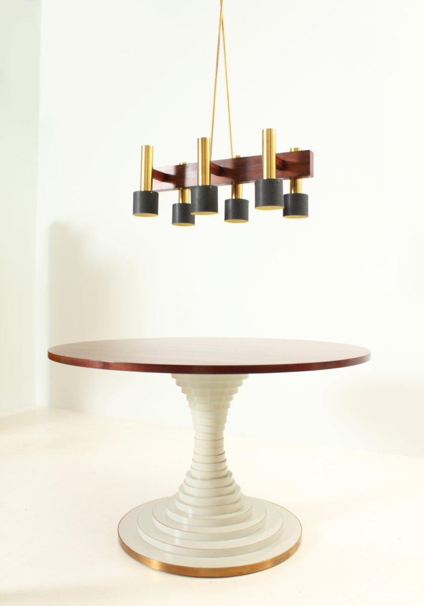 gro er kronleuchter mit sechs leuchten 1950er bei pamono. Black Bedroom Furniture Sets. Home Design Ideas